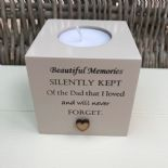 Shabby Personalised Chic Candle In Memory of a Loved one Dad Mum Nan Grandad etc - 332619904810